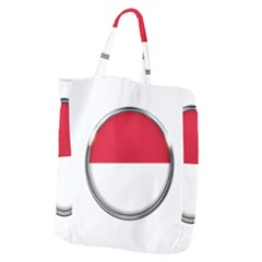Monaco Or Indonesia Country Nation Nationality Giant Grocery Zipper Tote