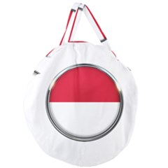 Monaco Or Indonesia Country Nation Nationality Giant Round Zipper Tote