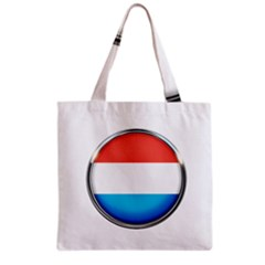 Luxembourg Nation Country Red Grocery Tote Bag by Nexatart