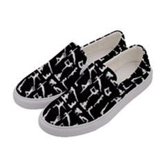 Yoga Pattern Women s Canvas Slip Ons by Valentinaart