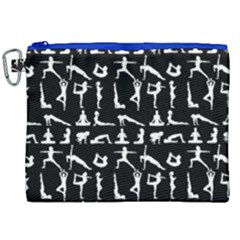 Yoga Pattern Canvas Cosmetic Bag (xxl) by Valentinaart