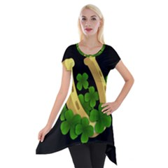 St  Patricks Day  Short Sleeve Side Drop Tunic