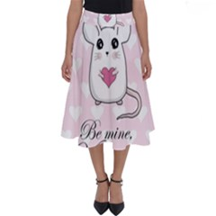 Cute Mouse - Valentines Day Perfect Length Midi Skirt by Valentinaart