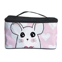 Cute Mouse   Valentines Day Cosmetic Storage Case by Valentinaart