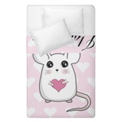 Cute Mouse   Valentines Day Duvet Cover Double Side (single Size)