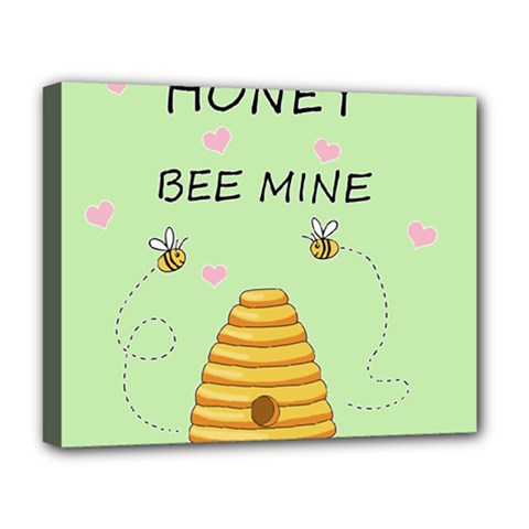 Bee Mine Valentines Day Deluxe Canvas 20  X 16