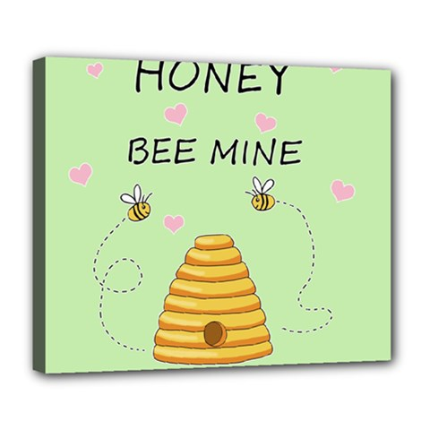 Bee Mine Valentines Day Deluxe Canvas 24  X 20   by Valentinaart