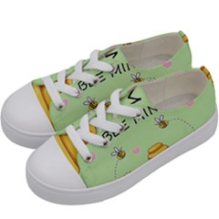 Bee Mine Valentines Day Kids  Low Top Canvas Sneakers by Valentinaart