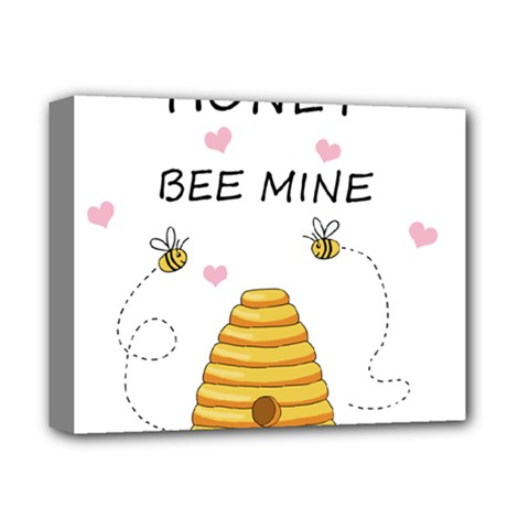 Bee Mine Valentines Day Deluxe Canvas 14  X 11  by Valentinaart