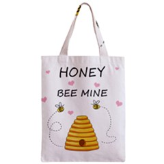 Bee Mine Valentines Day Zipper Classic Tote Bag by Valentinaart
