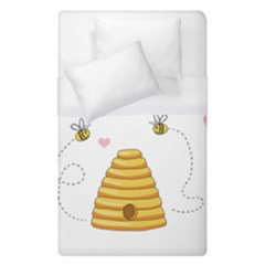 Bee Mine Valentines Day Duvet Cover (single Size) by Valentinaart