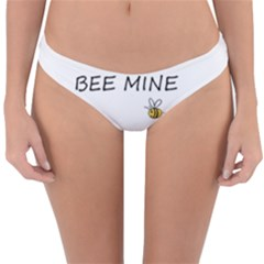 Bee Mine Valentines Day Reversible Hipster Bikini Bottoms by Valentinaart