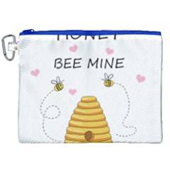 Bee Mine Valentines Day Canvas Cosmetic Bag (xxl) by Valentinaart