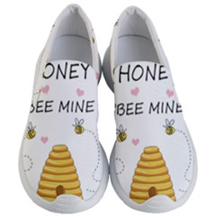 Bee Mine Valentines Day Women s Lightweight Slip Ons by Valentinaart