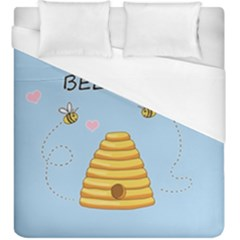 Bee Mine Valentines Day Duvet Cover (king Size)
