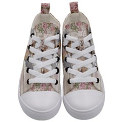 Vintage Chihuahua - Valentines Day Kid s Mid-top Canvas Sneakers
