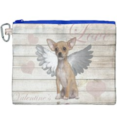 Vintage Chihuahua   Valentines Day Canvas Cosmetic Bag (xxxl) by Valentinaart