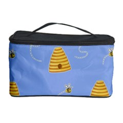 Bee Pattern Cosmetic Storage Case by Valentinaart