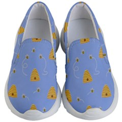 Bee Pattern Kid s Lightweight Slip Ons by Valentinaart