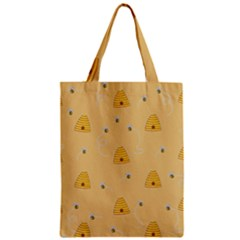 Bee Pattern Zipper Classic Tote Bag by Valentinaart
