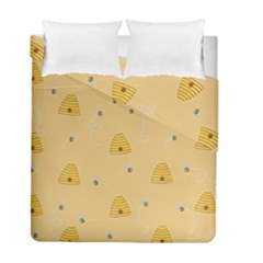 Bee Pattern Duvet Cover Double Side (full/ Double Size)