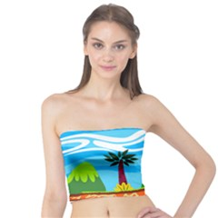 Landscape Background Nature Sky Tube Top