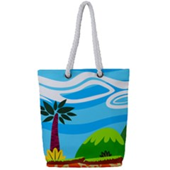 Landscape Background Nature Sky Full Print Rope Handle Tote (small) by Nexatart