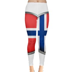 Norway Country Nation Blue Symbol Leggings  by Nexatart