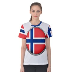 Norway Country Nation Blue Symbol Women s Cotton Tee