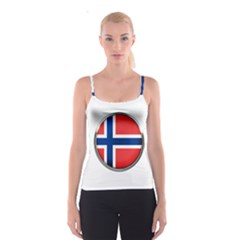 Norway Country Nation Blue Symbol Spaghetti Strap Top
