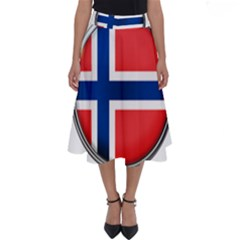 Norway Country Nation Blue Symbol Perfect Length Midi Skirt