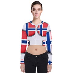 Norway Country Nation Blue Symbol Bomber Jacket
