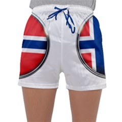 Norway Country Nation Blue Symbol Sleepwear Shorts