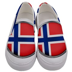 Norway Country Nation Blue Symbol Men s Canvas Slip Ons