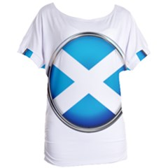 Scotland Nation Country Nationality Women s Oversized Tee by Nexatart