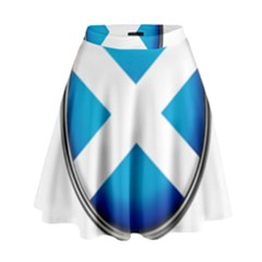 Scotland Nation Country Nationality High Waist Skirt