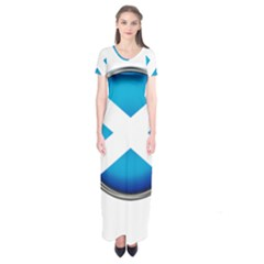 Scotland Nation Country Nationality Short Sleeve Maxi Dress