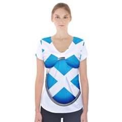 Scotland Nation Country Nationality Short Sleeve Front Detail Top