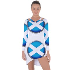Scotland Nation Country Nationality Asymmetric Cut Out Shift Dress