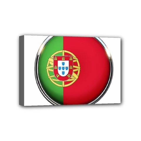 Portugal Flag Country Nation Mini Canvas 6  X 4