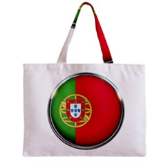 Portugal Flag Country Nation Zipper Mini Tote Bag