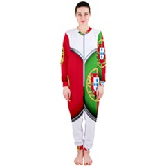 Portugal Flag Country Nation Onepiece Jumpsuit (ladies)