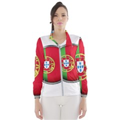 Portugal Flag Country Nation Wind Breaker (women)