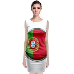 Portugal Flag Country Nation Classic Sleeveless Midi Dress