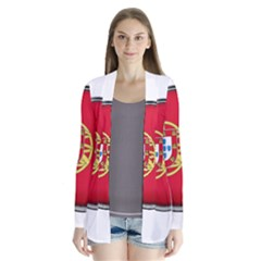 Portugal Flag Country Nation Drape Collar Cardigan