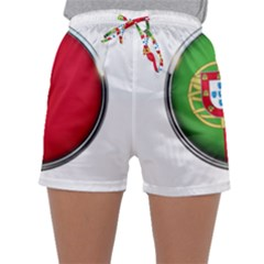 Portugal Flag Country Nation Sleepwear Shorts