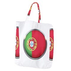 Portugal Flag Country Nation Giant Grocery Zipper Tote
