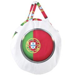 Portugal Flag Country Nation Giant Round Zipper Tote