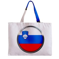 Slovenia Flag Mountains Country Zipper Medium Tote Bag by Nexatart