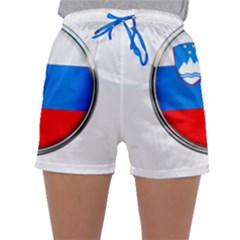 Slovenia Flag Mountains Country Sleepwear Shorts